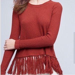 Anthropologie Eri + Ali Fringe Sweater
